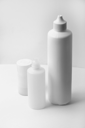 White plastic bottles