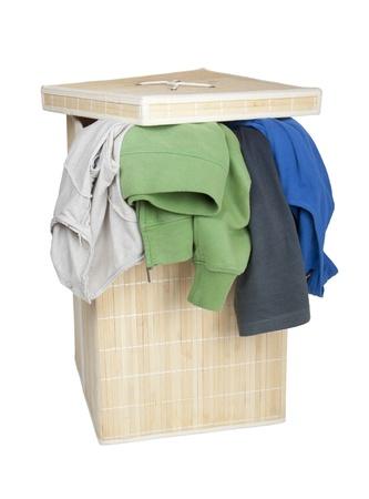 Caja con Dirty Laundry Foto de archivo