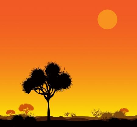 Savanna landscape Vector