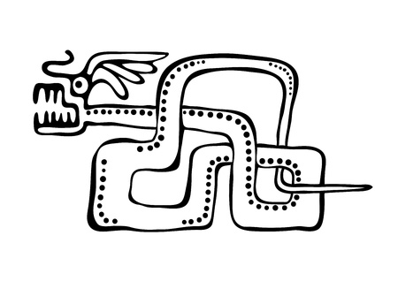 mayan culture: snake in american indians  style