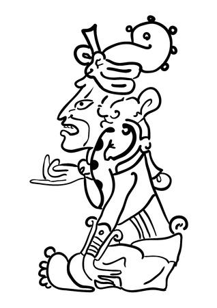 hieroglieven: Maya beeld van de Godheid