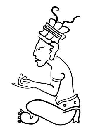 Maya Image of the Deity Vector