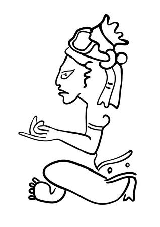 Maya Image of the Deity Stock Vector - 15754307