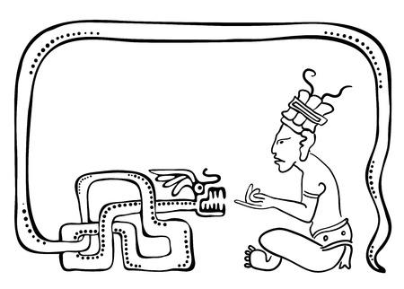 hypnotist: Fakir, illustration in maya style