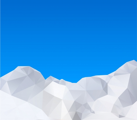 Abstract winter mountains  Vector