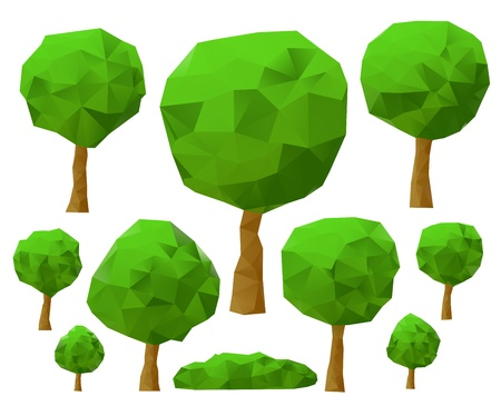 trees 3d imitation   illustration  illustration