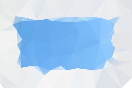 three cornered: Abstract blue background, vector