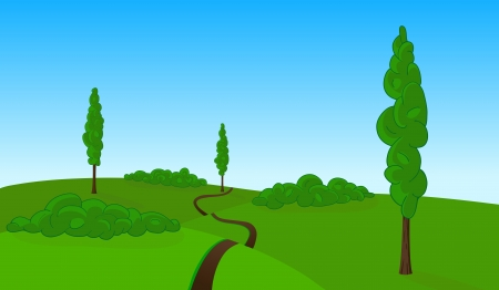 countryside landscape Stock Vector - 16110373