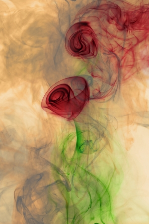 Flower smoke photo