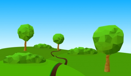 countryside landscape Stock Vector - 16213788