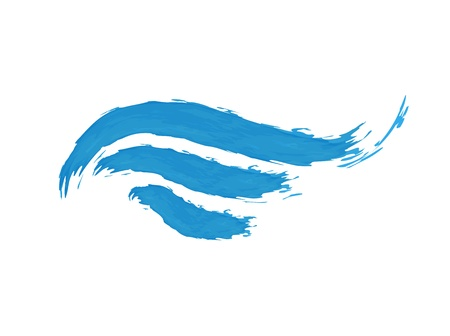 illustration of abstract blue wave