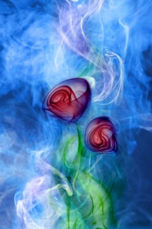 Flower smoke photo