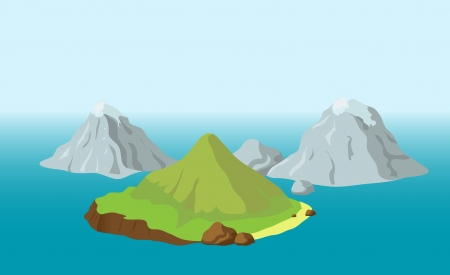 Islands with mountains Vector