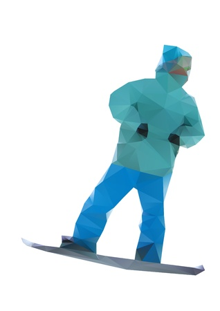 isolated snowboarder Stock Vector - 16213837