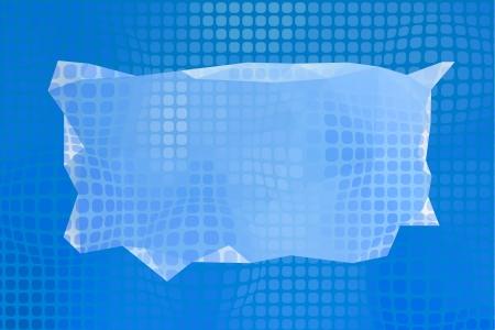 three cornered: Abstract blue background Stock Photo