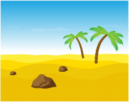 Palm trees in the desert   Vector