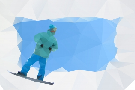 snowboard abstract poster, vector Stock Vector - 16392795