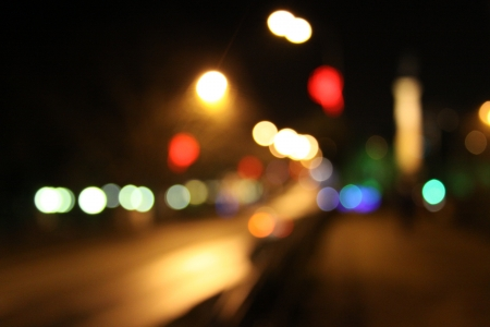 night spots: night city abstract bokeh background
