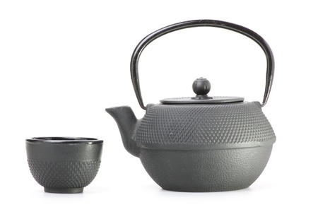 Chinese traditionele theepot, geïsoleerd Stockfoto