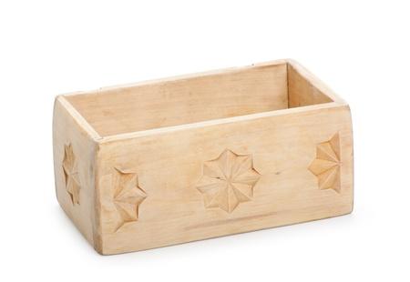 wooden box, isolated on white background photo