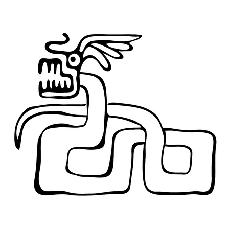 snake in american indians  style