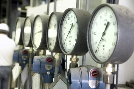Manometers in the boiler
