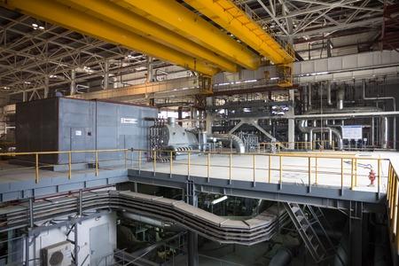 electric power station: electric power station, inside