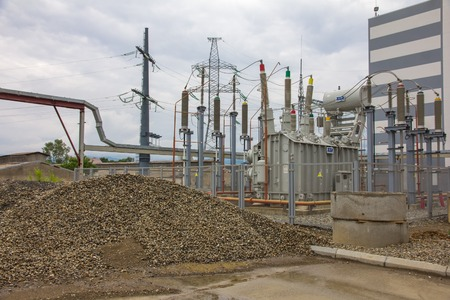 electric power station, outside Stock Photo - 25734229