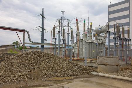 electric power station: electric power station, outside