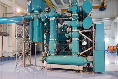 electric power station: electric power station or industrial plant equipment
