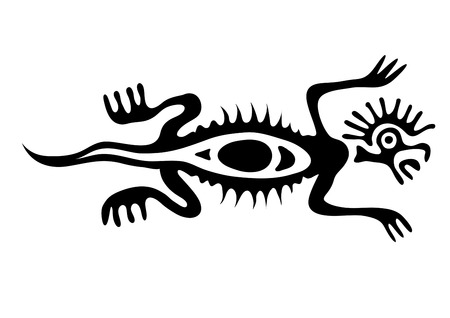 lizard in native style Vector