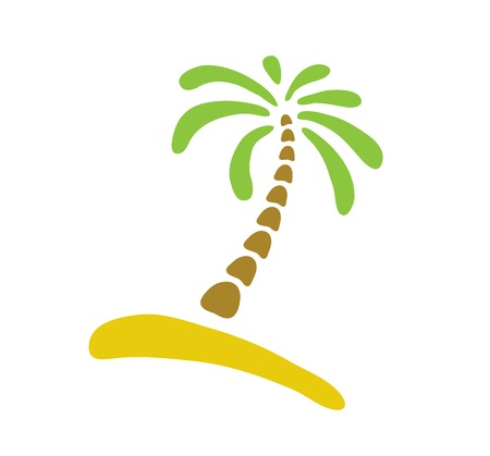 Palm tree, isolated illustration Vector