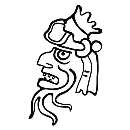 godhead: Face in style of Maya Indians