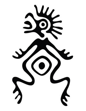 black alien in native style