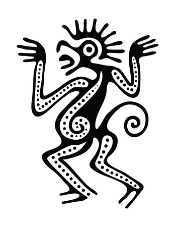 mesoamerican: Ornament in maya style Illustration