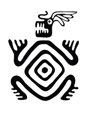 black monster in native style, vector illustration Illustration
