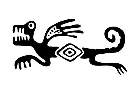 Black lizard or dragon in native style