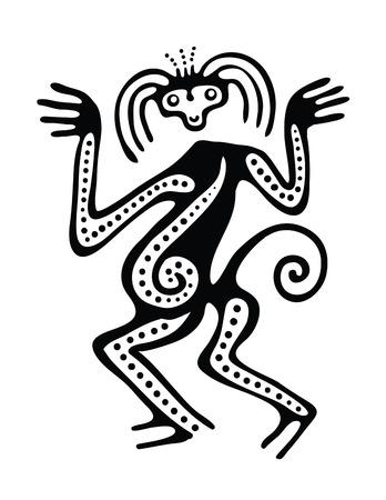 folktale: Ornamento en estilo de ilustraci�n maya Vectores