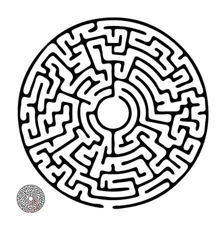 黒いベクター迷路、迷宮の図