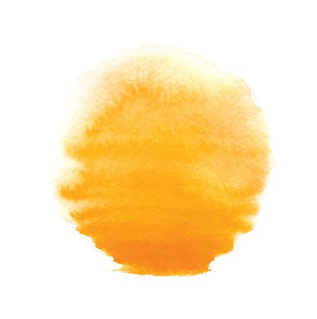 watercolor sun, vector illustration, isolated on white background Vettoriali