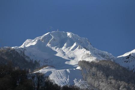 freeride: The mountains in Krasnaya Polyana, Sochi, Russia