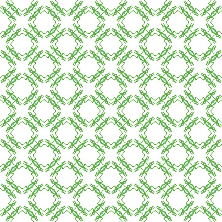 green ethnic pattern with monsters, background. photo