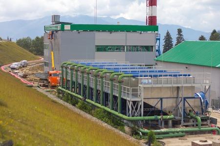 electric power station: electric power station building, outside Stock Photo