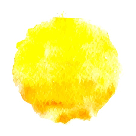 watercolor sun, vector illustration, isolated on white background Vectores