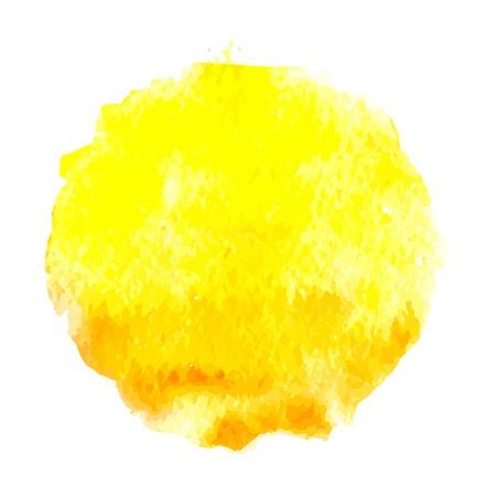 aquarel zon, vector illustratie, geïsoleerd op een witte achtergrond