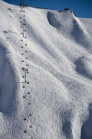 wintersport: Chairlift in a ski resort Krasnaya Polyana. Sochi, Russia