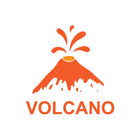 volcano mountain erupting: eruption of a volcano, vector  illustration