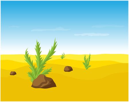 desert sand: desert sand landscape, vector illustration