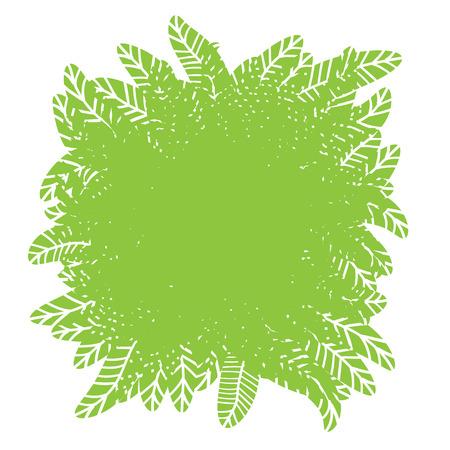plante design: Green plant �l�ment de design avec place pour le texte, illustration vectorielle. Illustration
