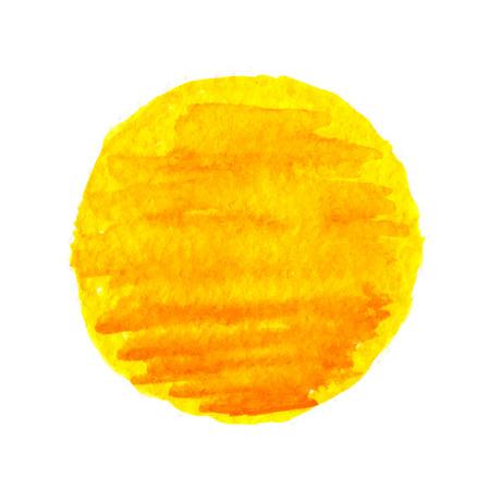watercolor sun, vector illustration, isolated on white background Stock Illustratie